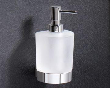 Gedy Kent Frosted Glass Soap Dispenser Chrome 5581-13